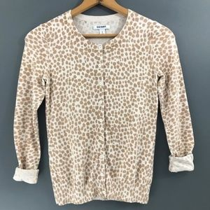 Old Navy Women's Leopard Button Cardigan Sweater S